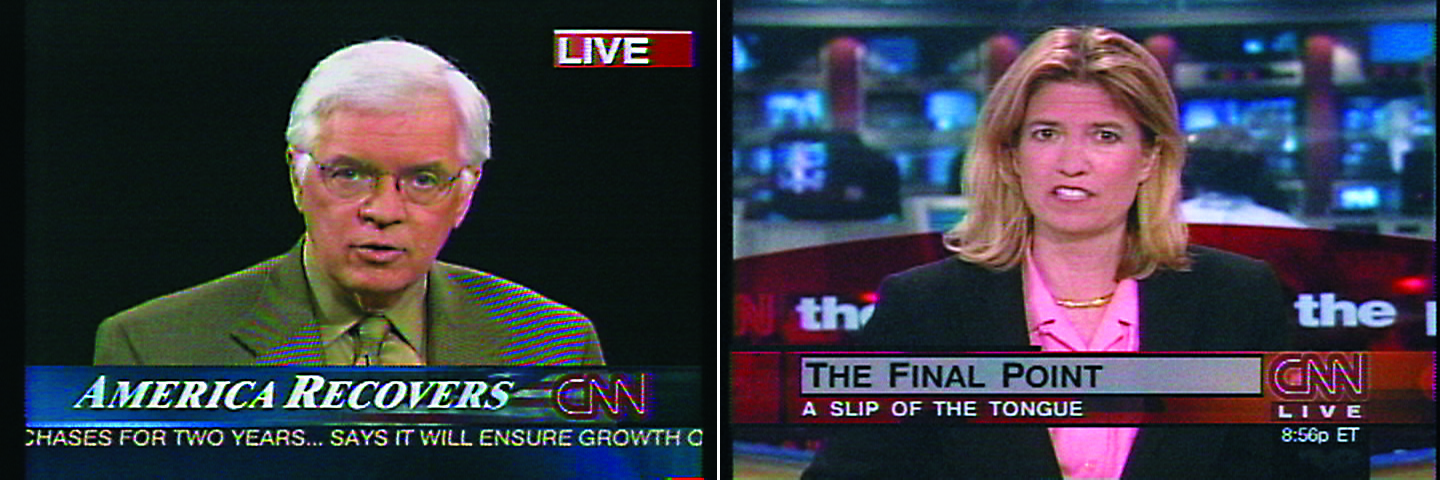 Omer Fast, CNN Concatenated, 2002. Courtesy Omer Fast ; gb agency.