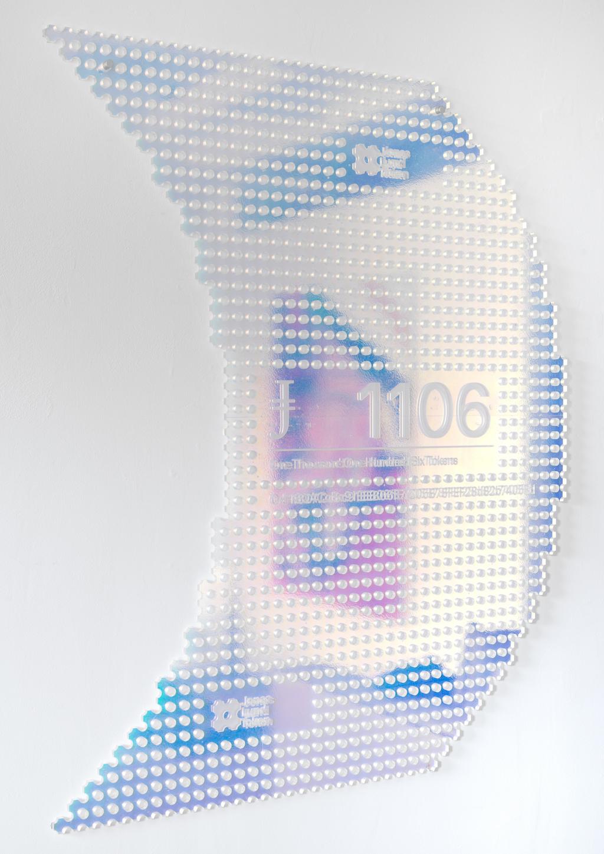 Jonas Lund, JLT 1106, 2018. CNC and engraved acrylic.